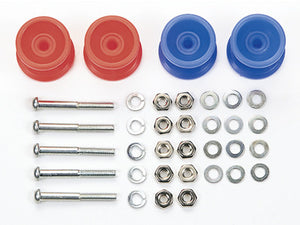 Plastic Double Rollers - Low Friction Red/Blue 13-12mm