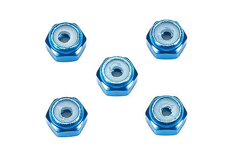 2mm Aluminum Lock Nut (Blue, 5pcs.)