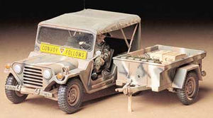 US M151A2 Ford Mutt with M416 Cargo Trailer
