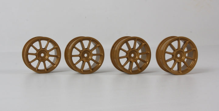 24MM 10-SPOKE WHEELS-4PCS Gold/+0