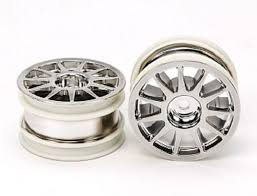 M-CHASSIS 1-SPOKE WHEELS (CHROME PLATED, 2PCS.)
