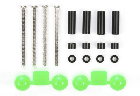 Aluminum Spacer Set (12mm, 3mm, 1.5mm / 4pcs. Each) (Black)
