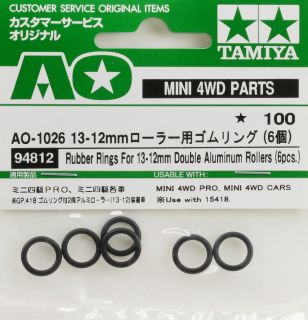 Rubber Rings for 13-12mm Double Aluminum Rollers (6pcs)