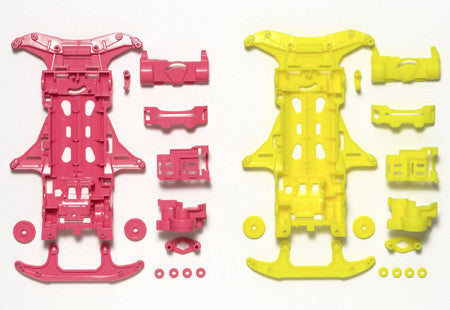 VS Fluorescent-Color Chassis Set (Pink/Yellow)