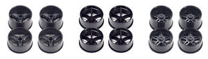 Mini 4WD Carbon Reinforced Wheel Set (Large Diameter)