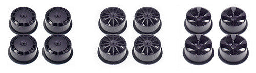 Mini 4WD Carbon Reinforced Wheel Set (Low Profile)