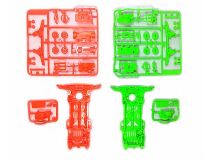 Super II Chassis Set - Fluorescent Color Orange/Green
