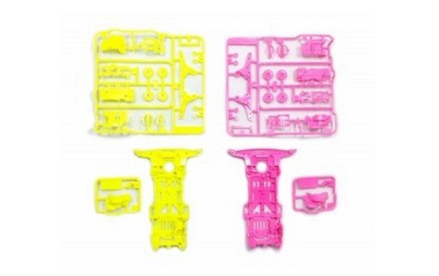 Super II Chassis Set - Fluorescent Color Pink/Yellow