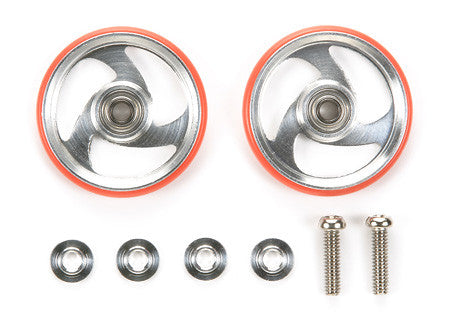 19mm Aluminum Rollers w/Plastic Rings (Red)