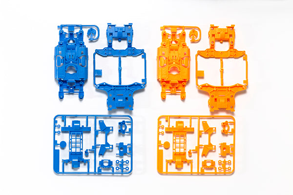 MS Chassis Set - Light Blue/Orange