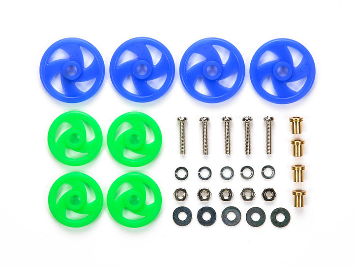 Low Friction Roller Set (Blue & Light Green)