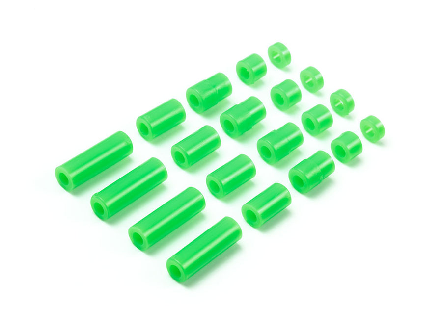 Lightweight Plastic Spacer Set (12/6.7/6/3/1.5mm) (Fluorescent Green)