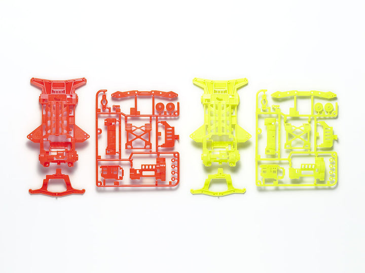 Super XX Fluorescent-Color Chassis Set (Orange/Yellow)