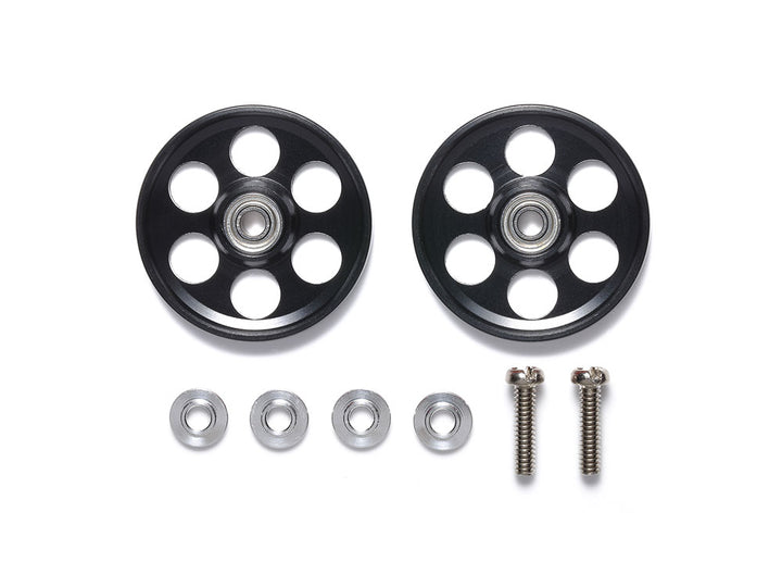 HG Lightweight 19mm Aluminum Ball-Race Rollers (Ringless/Black)