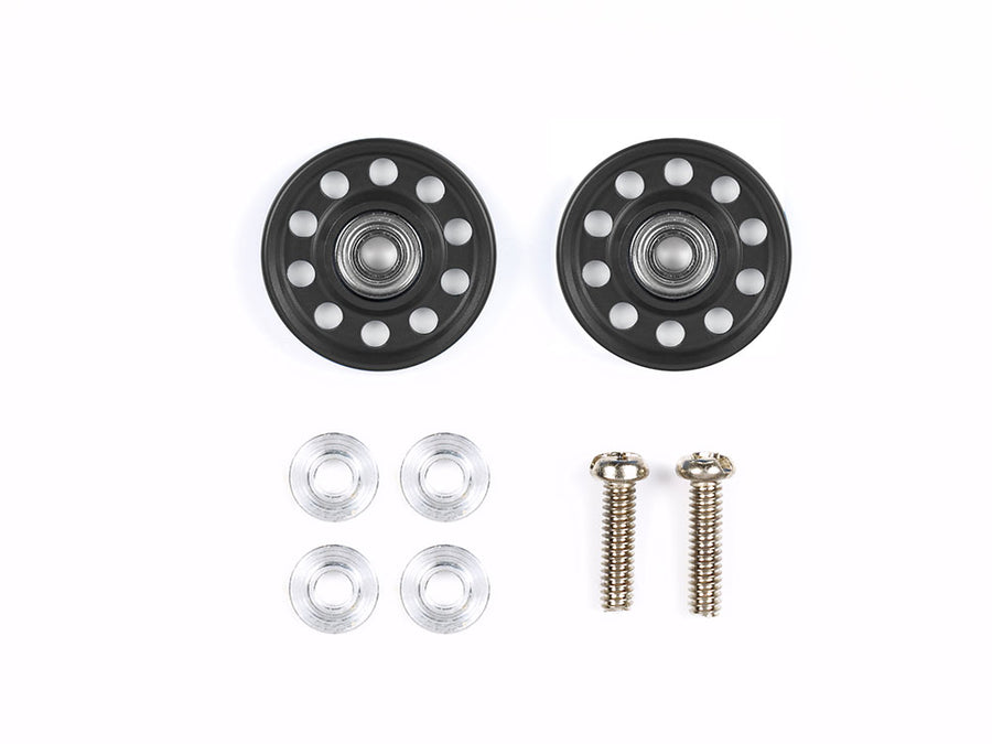 Lightweight 13mm Aluminum Ball-Race Rollers (Ringless/Black)