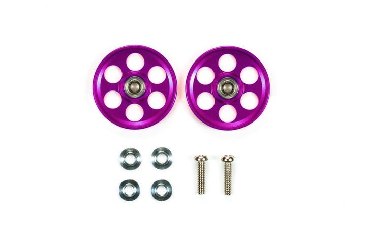 HG Lightweight 19mm Aluminum Ball-Race Rollers ( Ringless / Purple)