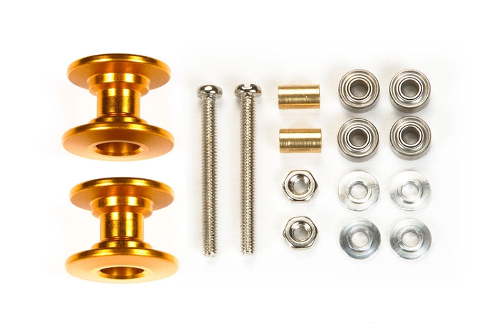 Lightweight Double Aluminum Rollers (13-12mm/Gold)