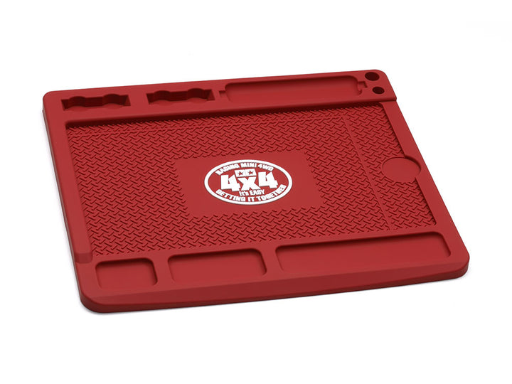 Mini 4WD HG Maintenance Base (180x210mm) Dark Red