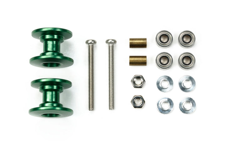 JR LW DOUBLE ALUMINUM ROLLERS 13-12Mm/Green