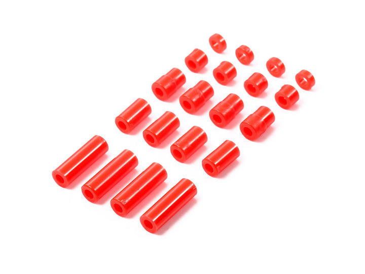 Lightweight Plastic Spacer Set (12/6.7/6/3/1.5mm) (Red)