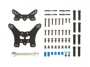 RC TT02B CARBON DAMPER STAYS