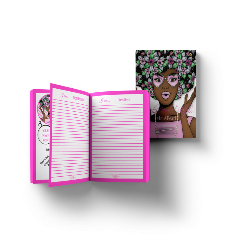 """I'm A Pearl"" Daily Affirmation Journal & Pearl Pen Bundle"