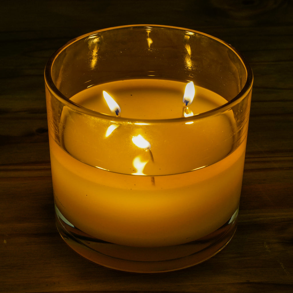 Cassia 3-Wick Glass Candle - Cellar Door Candles