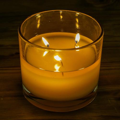 Organic Oregon Lavender 3-Wick Glass Candle - Cellar Door Candles