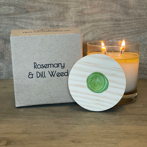 Rosemary & Dill Weed 2 Wick Glass Candle