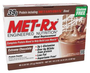 Met Rx Meal Replacement - Xtreme Chocolate (40 Packets)