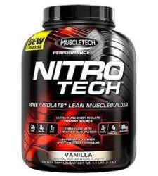 Muscletech Nitro Tech - Vanilla (4 Pound Powder)