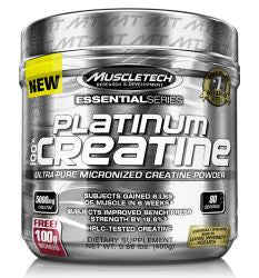 Muscletech 100% Platinum Creatine - UNFLAVORED (0.89 Pound Powder) 80 SERVINGS