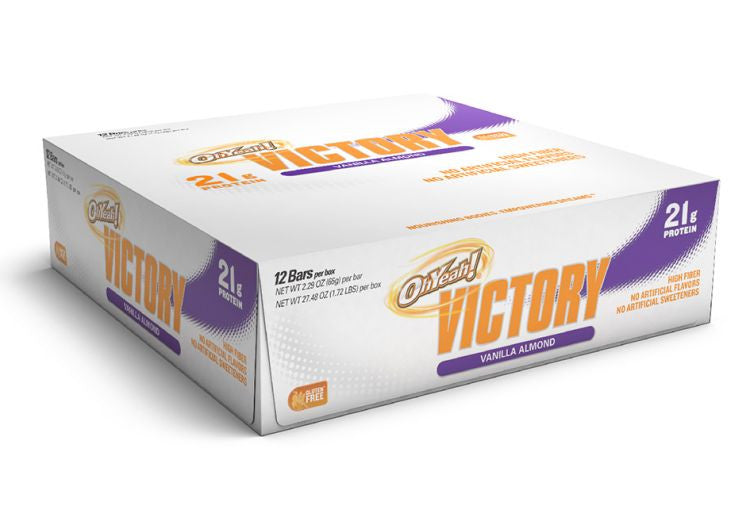 Oh Yeah! Victory Bar VANILLA ALMOND CRUNCH (12) BARS 1 BOX