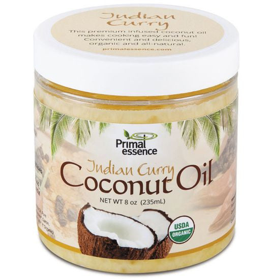 ORGANIC COCONUT OIL 8oz INDIAN CURRY