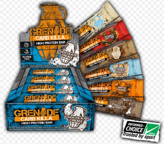 GRENADE CARB KILL BARS AND BROWNIES