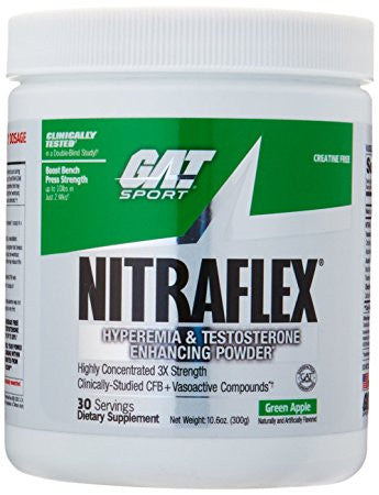 GAT Nitraflex - GREEN APPLE (300 Grams Powder)