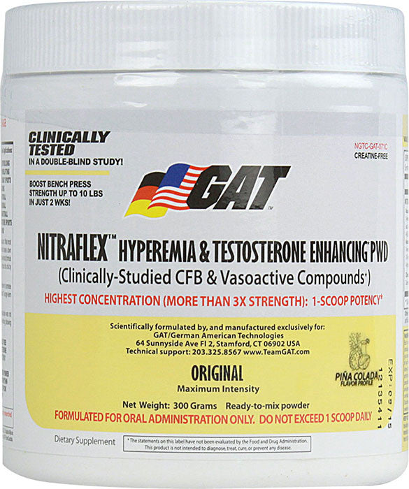 GAT Nitraflex - PINEAPPLE (300 Grams Powder)