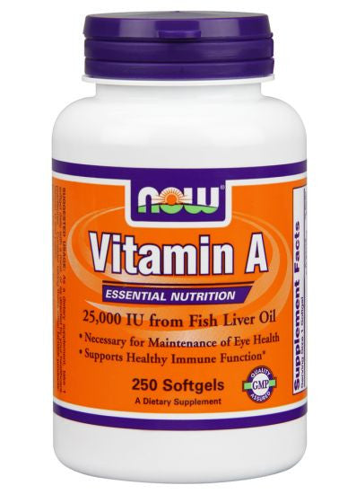 NOW Foods Vitamin A Fish Liver Oil 250C