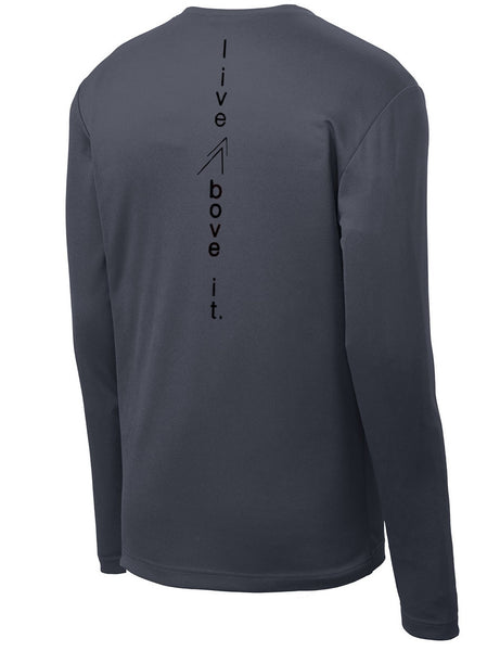 Men's Active Performance Tee – Long Sleeve (Grey)