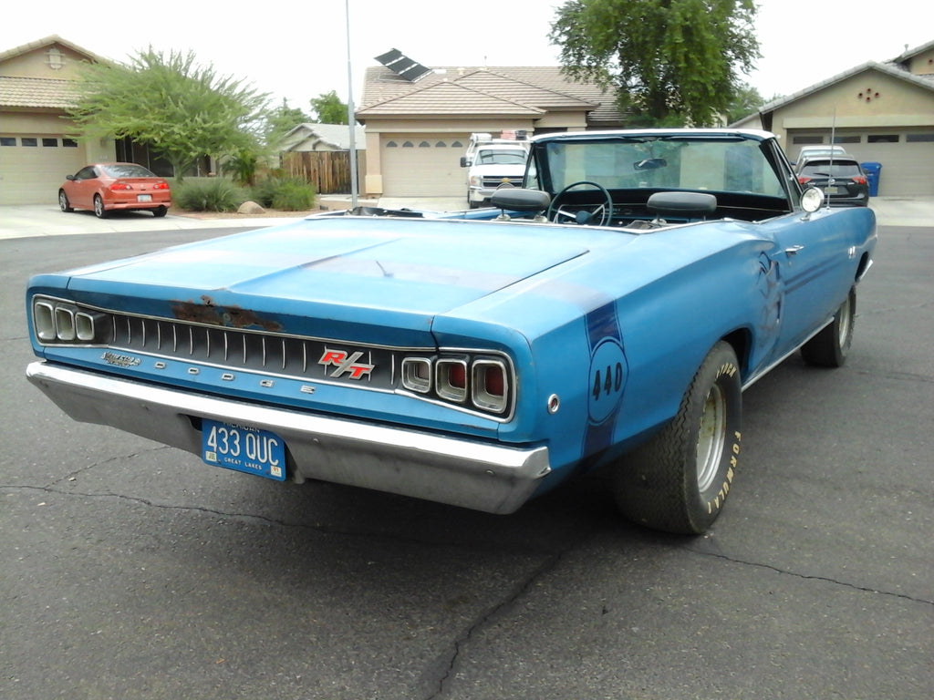 GARAGE FIND: 1968 Dodge Coronet R/T 440 HP Convertible w/ FACTORY A/C 1 of 1