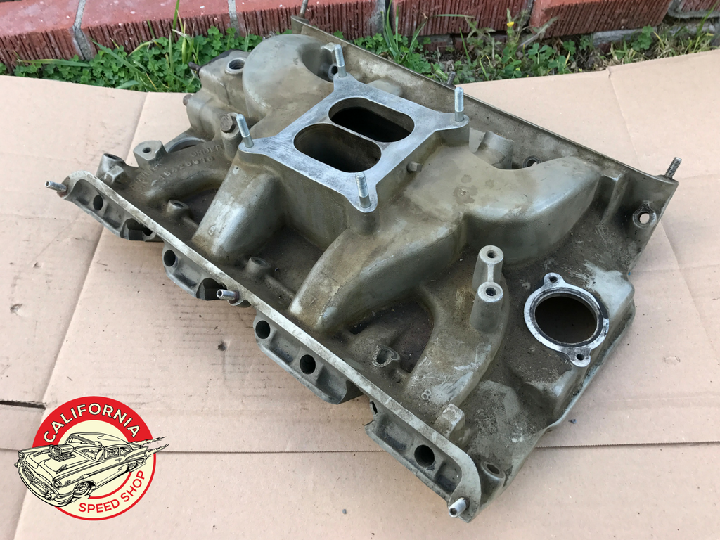 1967 428 Cobra Jet C7AE-9425-F Aluminum Factory Intake Manifold Pictures and Identification