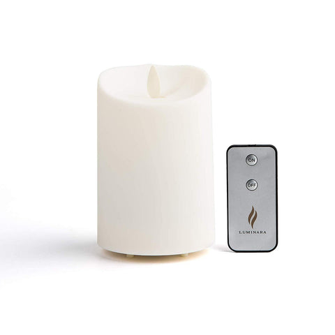 "Luminara 4"" Outdoor Candle with Soft-Touch Coating and Remote"