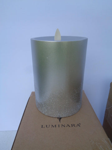 "Luminara Flameless Candle: 5"" Silver Ombre - Defective"