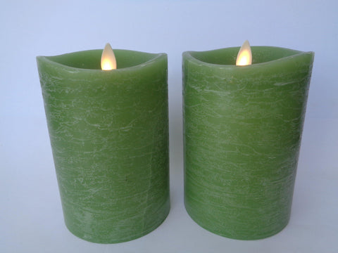 "5"" Rustic Sage Flameless Candles - Damaged"