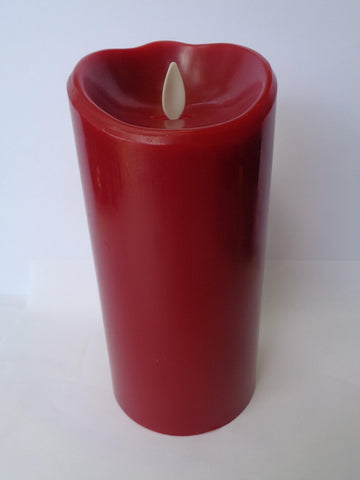 "7"" Flameless Candle - Red - Damaged"