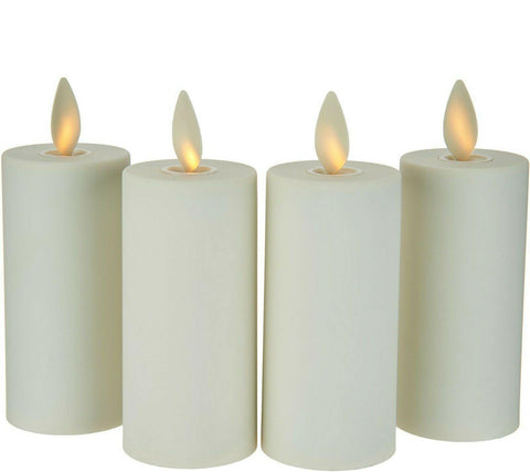 Luminara Flameless Votive 4-Piece Set - Ivory w/ Remote