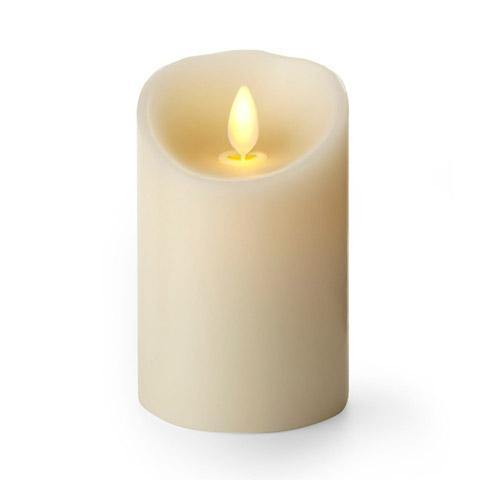 "Luminara 3""x 4"" Flameless Candle - Classic Ivory Unscented"