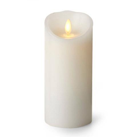 "Luminara 3"" x 6"" Real-Flame Effect Candle - WHITE - The Flameless Candle Shop"