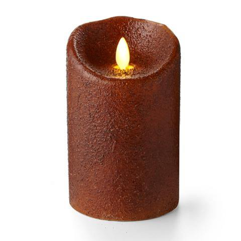 "Luminara 5"" Country Yam Flameless Candle - Unscented"