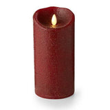 "Luminara 7"" Country Rio Red Flameless Candle - Unscented"